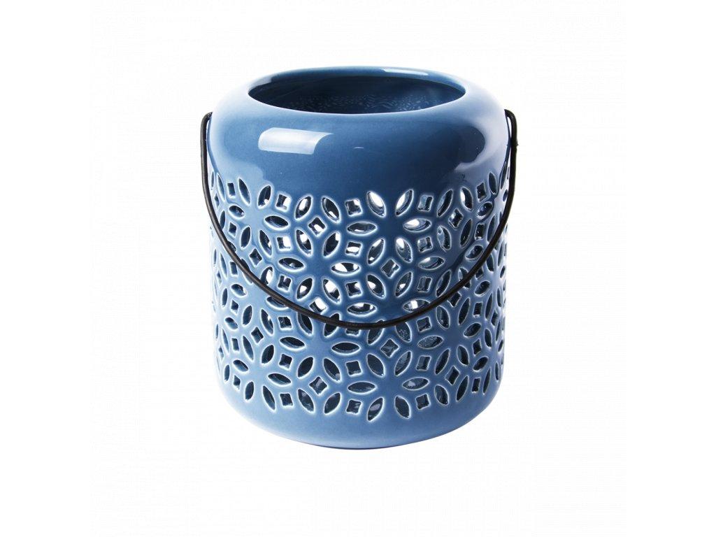 lucerna keramická modrá