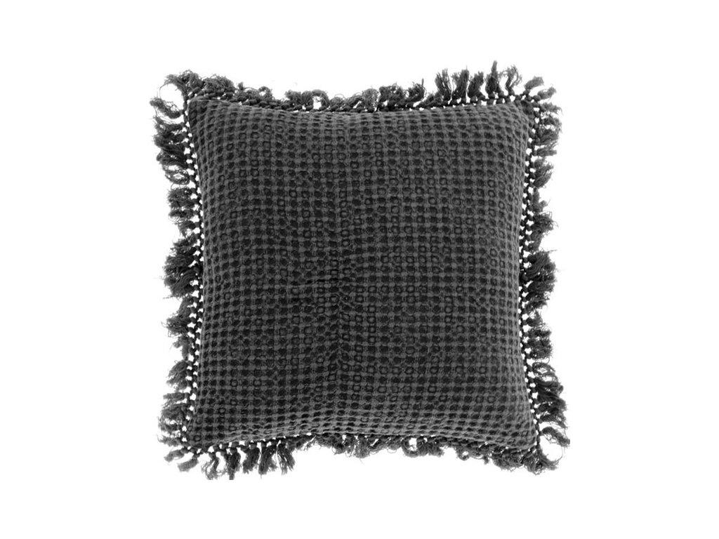 polštář šedý fieke