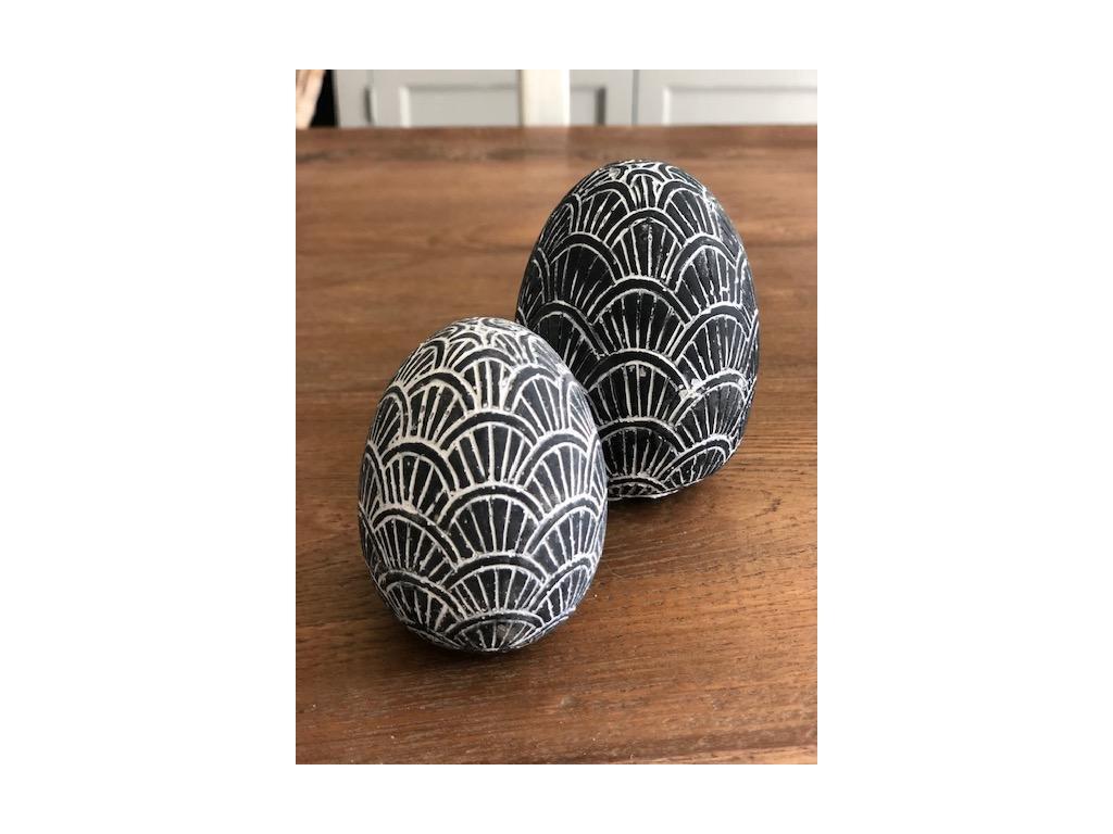 vejce černé zdobné