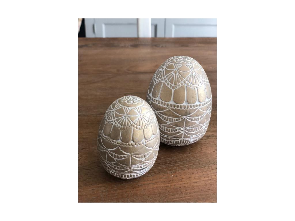vejce kamenina zlaté zdobené