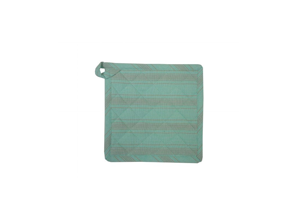 Chňapka Linen Stripe Light Aqua