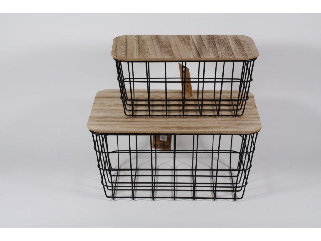box kov + dřevo