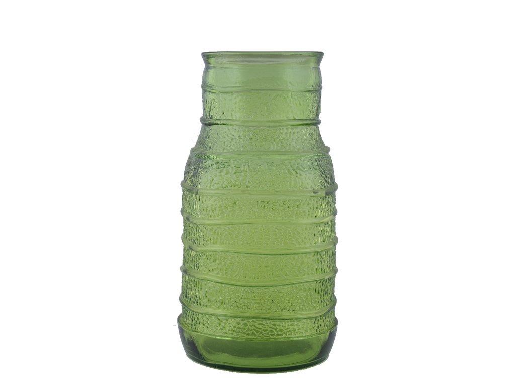 váza zelelná recyklovaní sklo