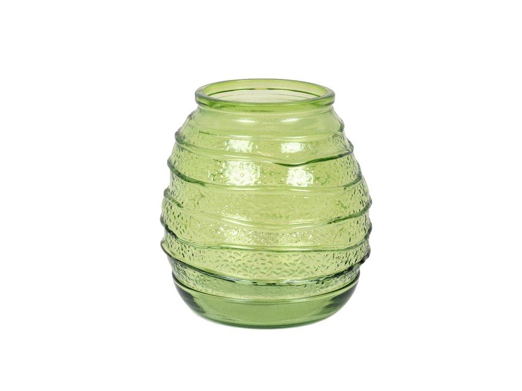 váza zelená recyklované sklo