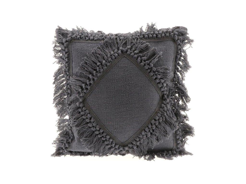 polštář Ziara tmavě šedý
