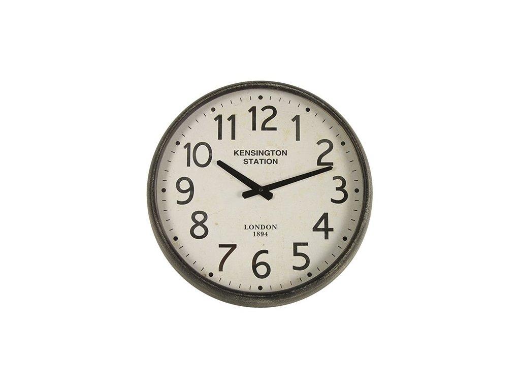 hodiny šedo černé