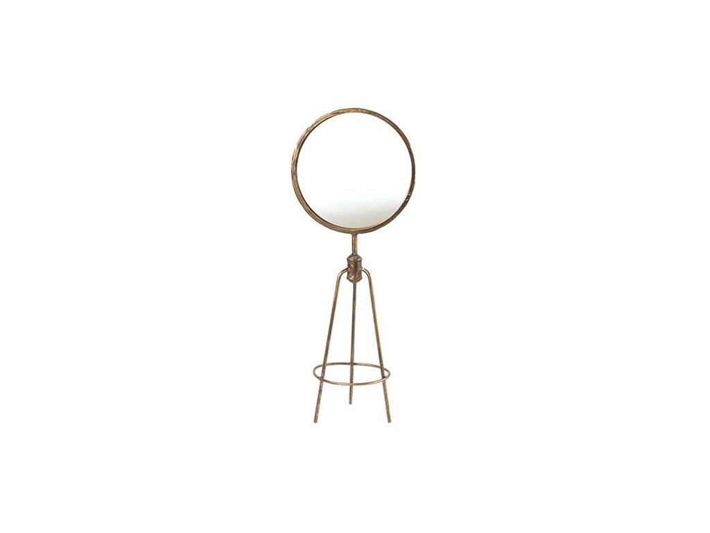 zrcadlo zlaté s patinou