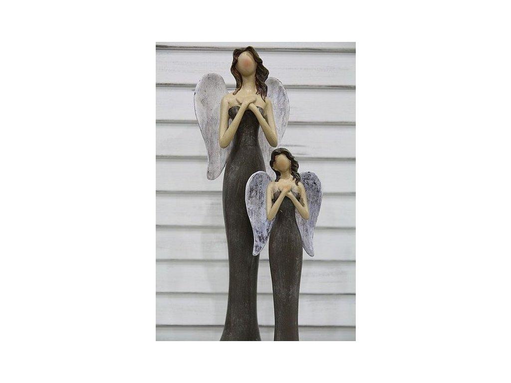 Andělka hnědá ruce sepnuté- menší