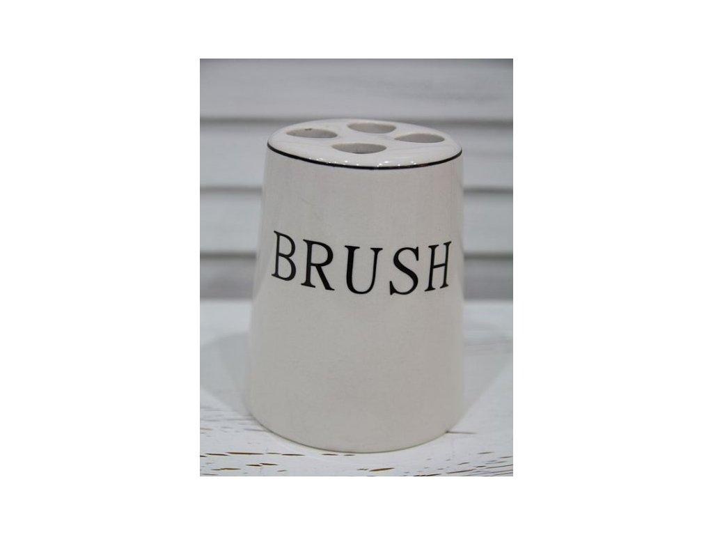 Keramický kelímek BRUSH na kartáčky na zuby