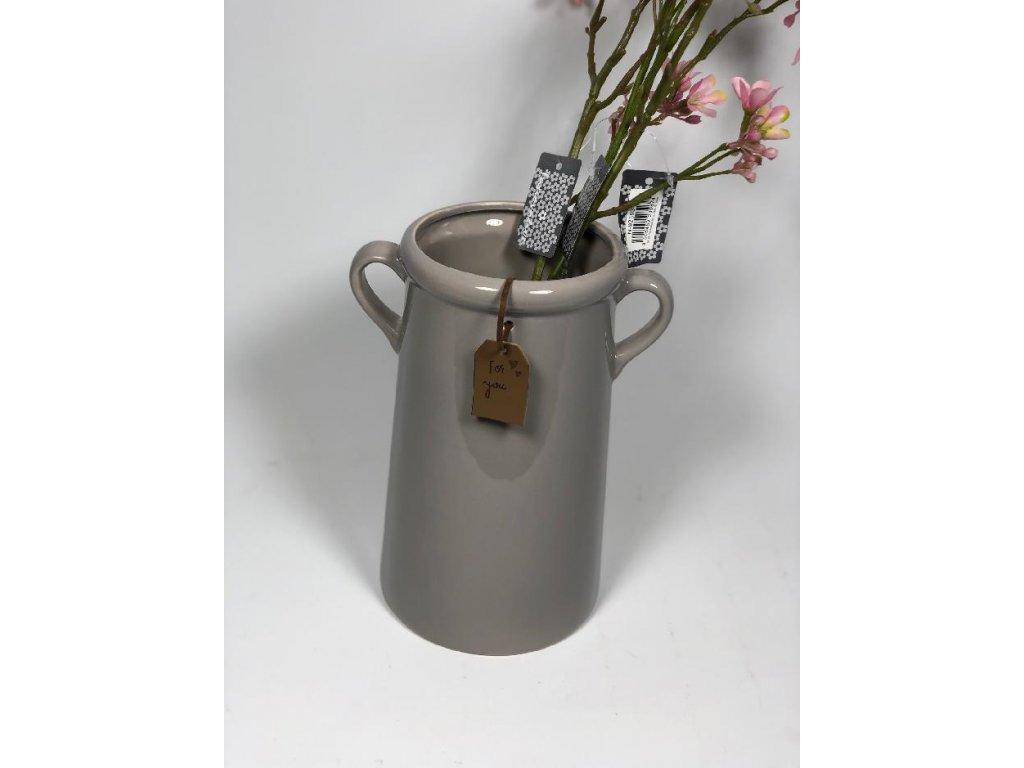 váza šedá