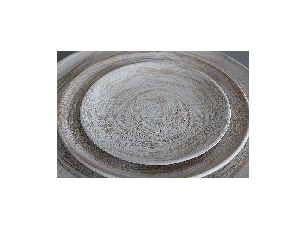 tác talíř dřevo patina