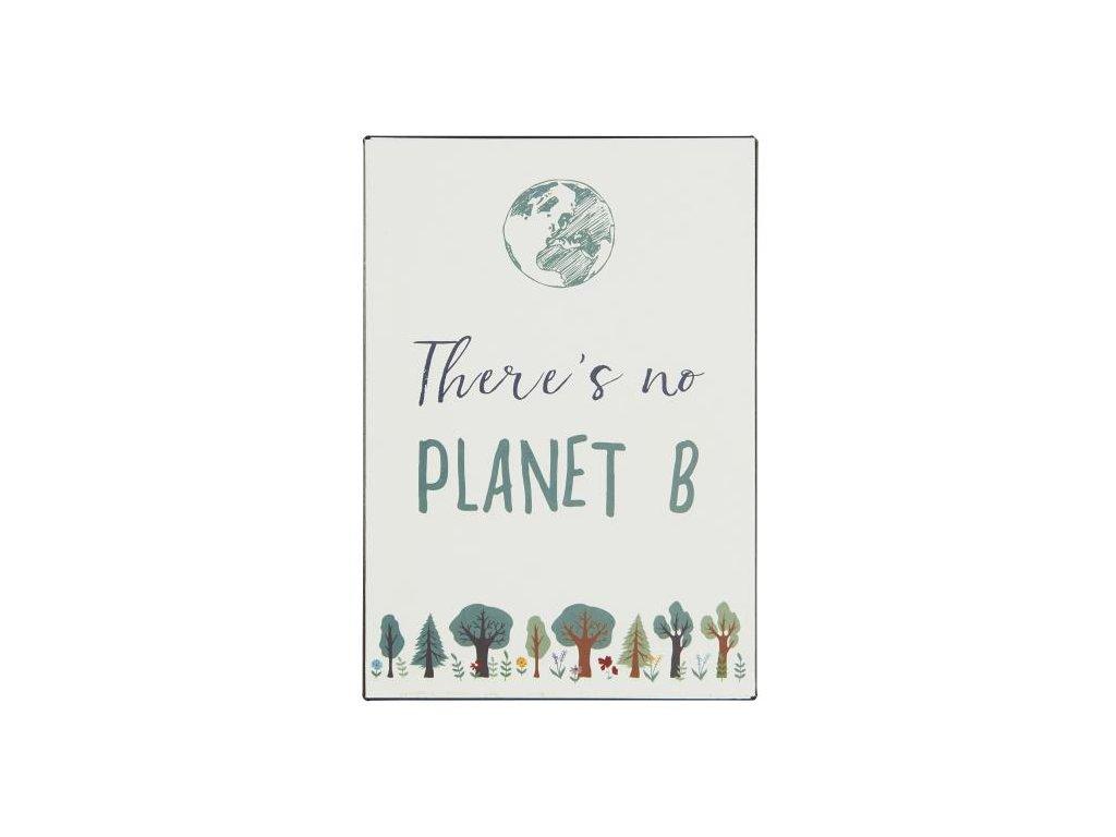 plechová cedule planet B