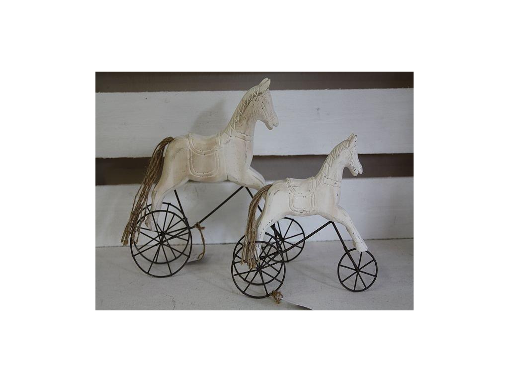 Koník na kolečkách bílý - menší