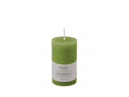 svíčka rustikální zelená