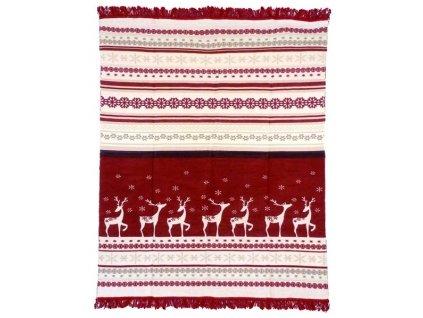deka Rudolf červená