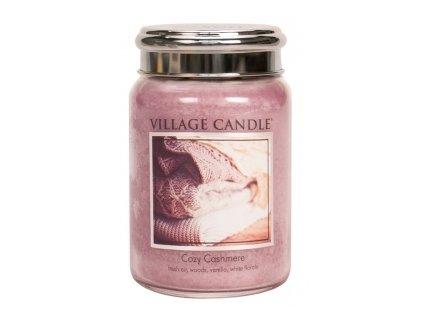 svíčka village candle kašmírové pohlazení velká