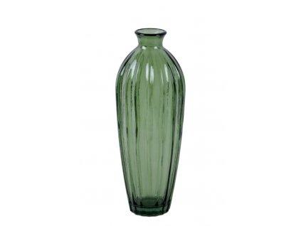 váza etnico zelená recyklované sklo