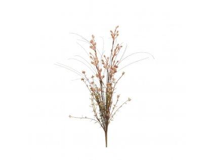 květina umělá sušený vzhled hnědá