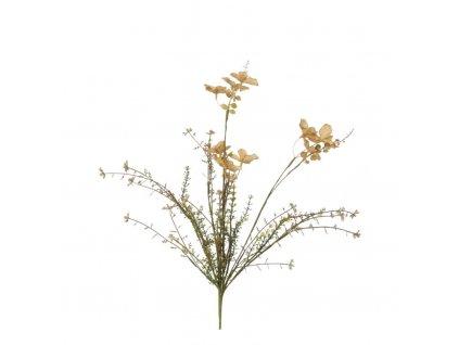 umělá květina sušený vzhled žlutá