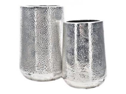 váza stříbrná kónická nižší