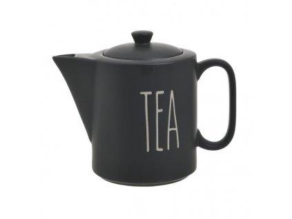konvička na čaj čená keramická