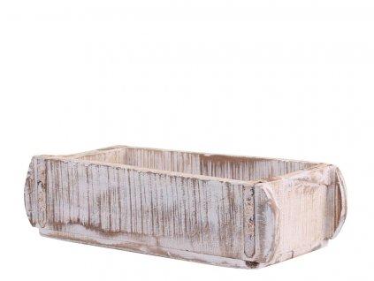 box dřevo brick mould bílá patina