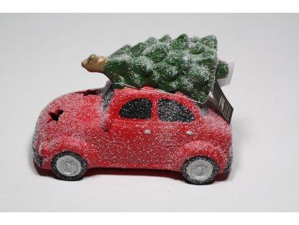 auto led s vánočním stromečkem