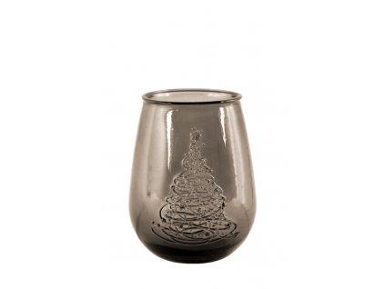 váza recyklované sklo se stromečkem