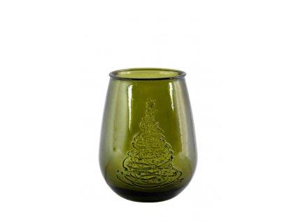 váza recyklované sklo stromeček