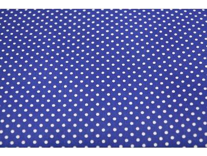 Metráž tmavě modrý puntík 3mm 6,8m