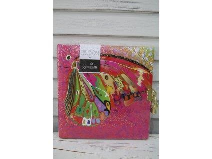 Notes růžový motýl se zámečkem