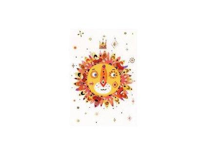 Lev slunce 16,7 x 11,8 cm