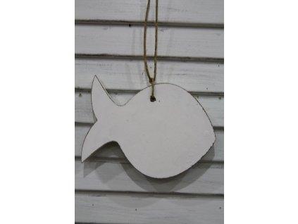 Ryba dřevěná bílá