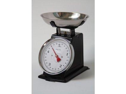 Kuchyňská retro váha černá 5kg
