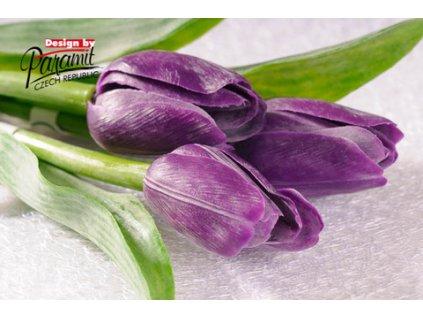 Tulipán umělý fialový 3.- tmavý