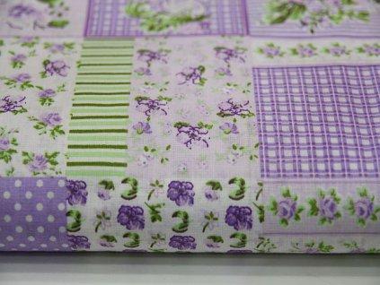 Metráž fialový patchwork