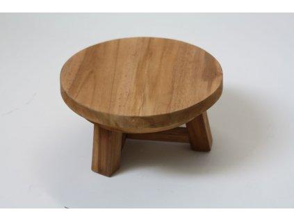 Stolička nízká teaková menší