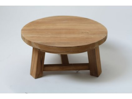 Stolička nízká teaková větší