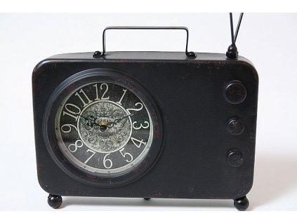 Hodiny černé ala radio
