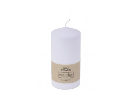 svíčka hladká bílá velká