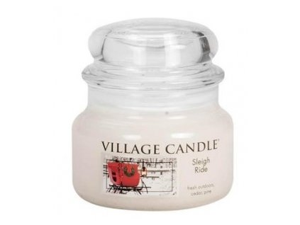 43323 8460 village candle vonna svicka ve skle zimni vyjizdka sleigh ride 11oz