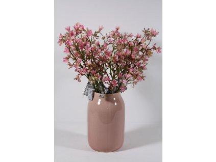 váza keramická růžová