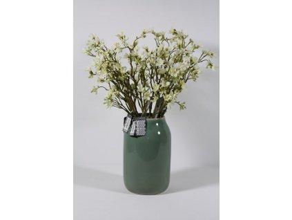 váza keramická tyrkysová zelená