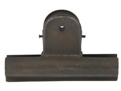 klip kovový černý