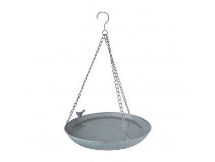 koupel pro ptáčky šedý kov