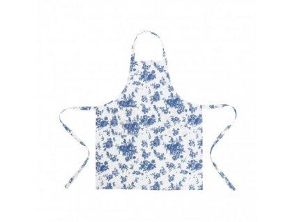 kuchyňská zástěra modré kytky