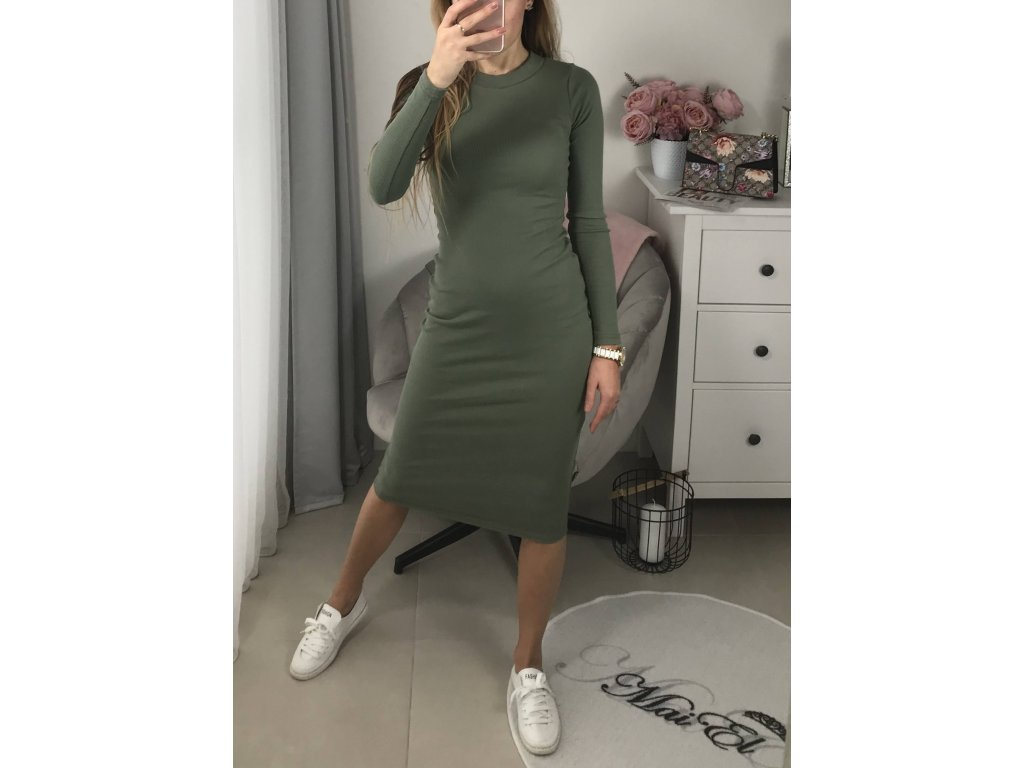 Šaty přiléhavé dlouhé Tin