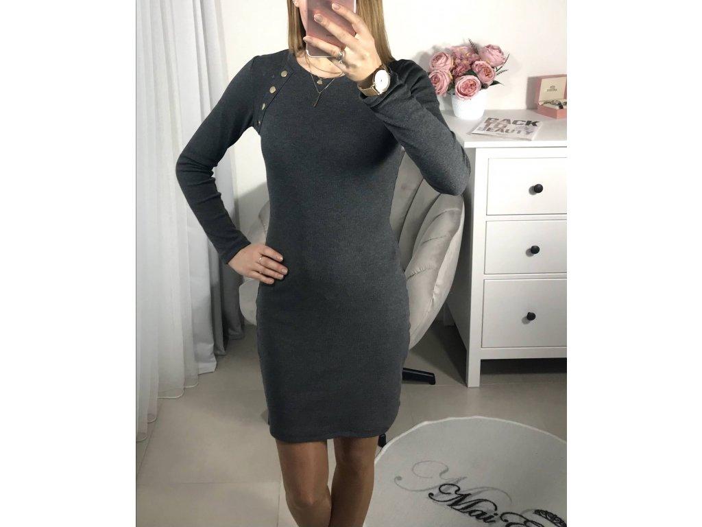 Šedé šaty Gery