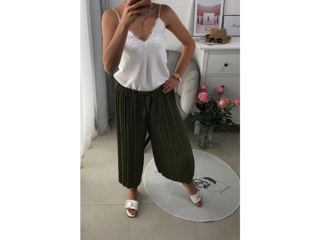 Široké kalhoty - plisované