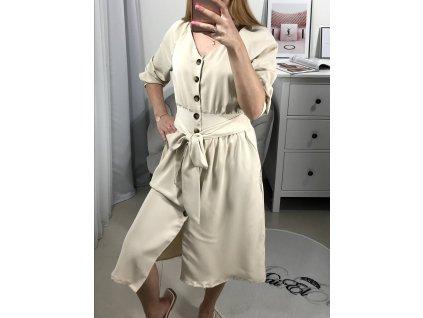 Béžové šaty Hermy